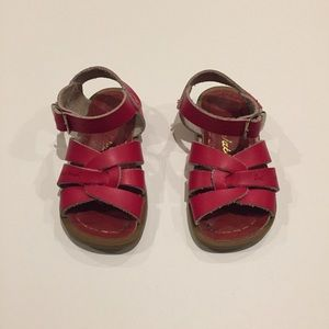 Red Leather Salt Water Sandals Toddler 6